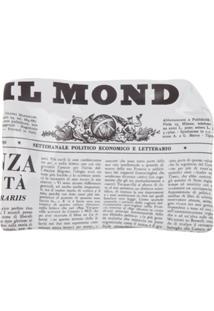 Fornasetti Cinzeiro 'Il Mondo' De Porcelana - Branco