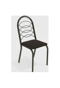 Cadeira Holanda Bronze/Preto De Metal (Par) Kappesberg