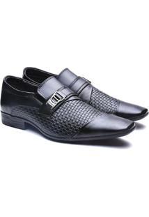 Sapato Social Versales Confort Masculino - Masculino-Preto