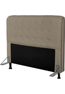 Cabeceira Para Cama Casal Box 195 Cm Califórnia Corino Areia - Js Móveis