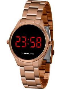 Relógio Lince Feminino Styles Digital - Feminino-Dourado