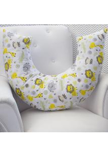 Capa De Almofada Amamentaã§Ã£O Safari Amarelo - Amarelo - Dafiti