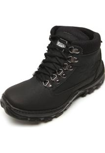 Bota Ride Skateboard Recortes Preto
