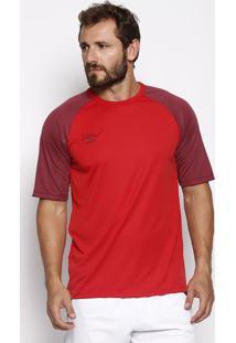Camiseta Twr Trinity - Vermelha & Bordô - Umbroumbro