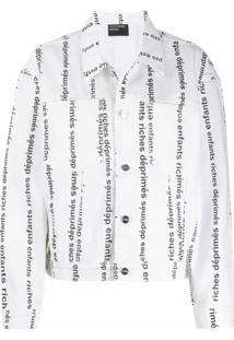 Enfants Riches Déprimés Jaqueta Jeans Com Logo - Branco