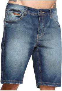 Bermuda Jeans Diferenciada Vlcs 18789 Masculina - Masculino