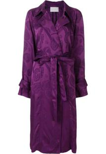 Peter Pilotto Trench Coat Jacquard - Rosa