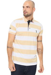 dcd21eefd6 ... Camisa Polo Aleatory Reta Listrada Amarela