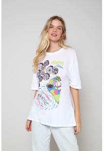 Blusas E Camisas Oh, Boy! T-Shirt Malha Praia Branco