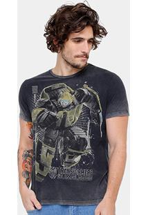 Camiseta Ellus 2Nd Floor Marmorizada Transformers Masculina - Masculino
