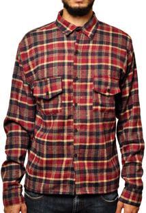 Camisa Andy Roll Clothing Flanela King Dyi Vermelha
