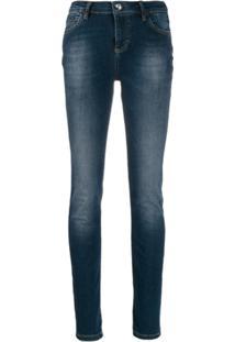 Philipp Plein Calça Jeans Skinny Cintura Alta - Azul