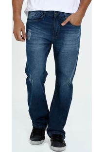 Calça Masculina Jeans Reta Marisa