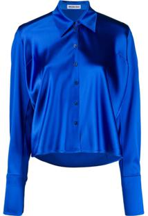 Balenciaga Blusa De Cetim - Azul