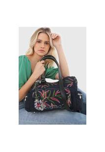 Bolsa Desigual Shoulder Bag Flower Sea Azul-Marinho