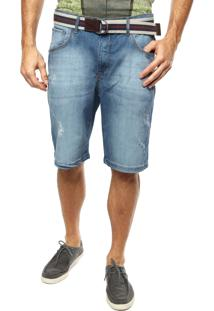 Bermuda Jeans Sommer Cinto Azul