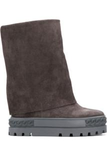 Casadei Ankle Boot Flat - Cinza