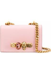 Alexander Mcqueen Bolsa Transversal Jeweled Mini - Rosa