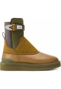 Suicoke Ankle Boot Com Recortes Perfurados - Marrom