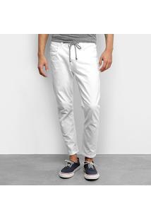 Calça Jeans Colcci John Cropped Masculina - Masculino-Branco