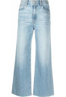 Slvrlake Calça Jeans Cropped Grace - Azul