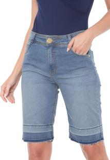 Bermuda Jeans Dimy Biker Camili Azul