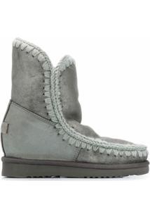 Mou Bota Eskimo Com Plataforma - Cinza