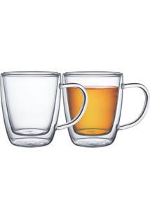 Conjunto De Xícaras Para Chá E Cappuccino 2 Peças Tramontina - 64760410