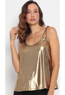 Blusa Metalizada- Dourada- Lança Perfumelança Perfume