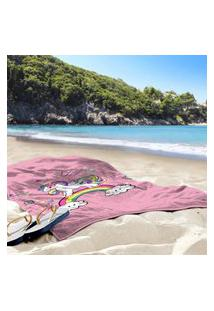 Toalha De Praia / Banho Unicornio Único