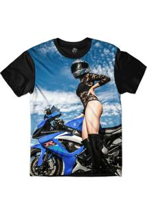 Camiseta Bsc Insane Biker Sublimada Preto