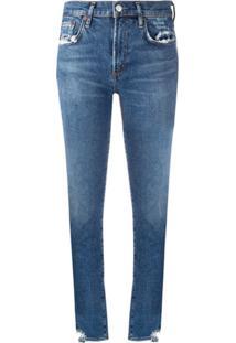Agolde Calça Jeans Skinny Com Efeito Destroyed - Azul