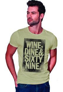 Camiseta Estonada Corte À Fio Joss Sixty Nine - Areia