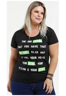 Blusa Feminina Estampa Frontal Neon Plus Size Curta