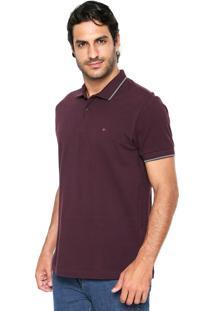 Camisa Polo Aramis Manga Curta Lisa Roxa