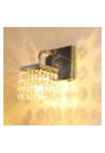 Lustre Luminária De Parede Arandela De Cristal Legítimo Com Botão Liga E Desliga Lado Direito