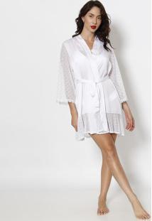 Robe Com Amarração- Brancofruit De La Passion