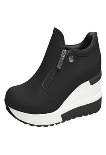 Tênis Sneaker Quiz Plataforma Anabela Casual 661852 Feminino