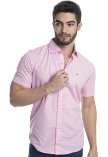 Camisa Tony Menswerar Slim Fit Rosa
