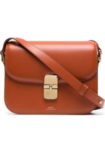 A.P.C. Grace Leather Shoulder Bag - Marrom