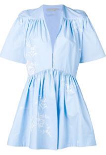 Stella Mccartney Macacão Com Bordado Floral - Azul