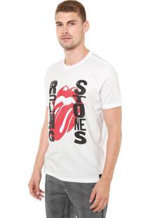 Camiseta Ellus Rolling Stones Off-White