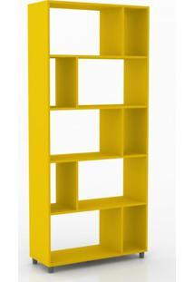 Estante Multiuso 5 Divisórias Esm212 Movelbento Amarelo