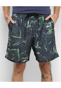 Bermuda Hang Loose Elástico Wanna Masculina - Masculino-Cinza+Verde