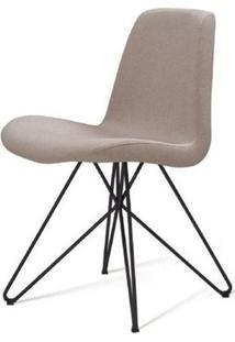 Cadeira Eames Estofada Bege Base Butterfly Preta - 45171 Sun House