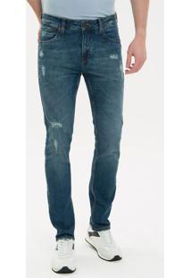 Calça Jeans Five Pockets Slim - Marinho Calça Jeans Five Pockets Slim - Marinho - 36