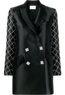 Giuseppe Di Morabito Crystal Embellished Blazer Dress - Preto