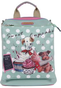 Bolsa Nicole Lee Cupcake Dog Multi Function Azul