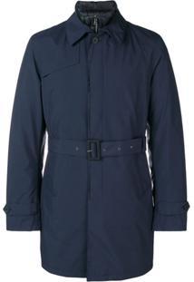 Herno Trench Coat Acinturado - Azul