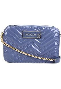 Bolsa Petite Jolie Mini Bag Nic Zig Zag Feminina - Feminino-Azul